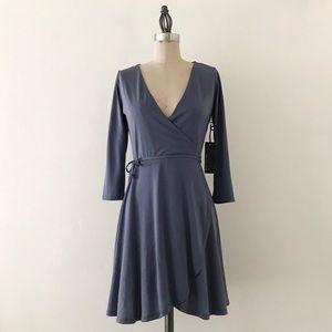 LULUS | Slate Blue Wrap Dress